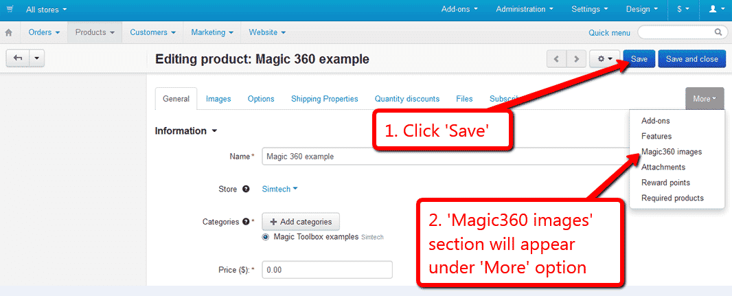 Magic 360 - CS-Cart Addon to Spin Product Images