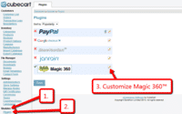 Customize the Magic 360 plugin