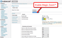 Activating Magic Zoom module for CubeCart