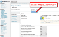 Activating Magic Zoom Plus module for CubeCart