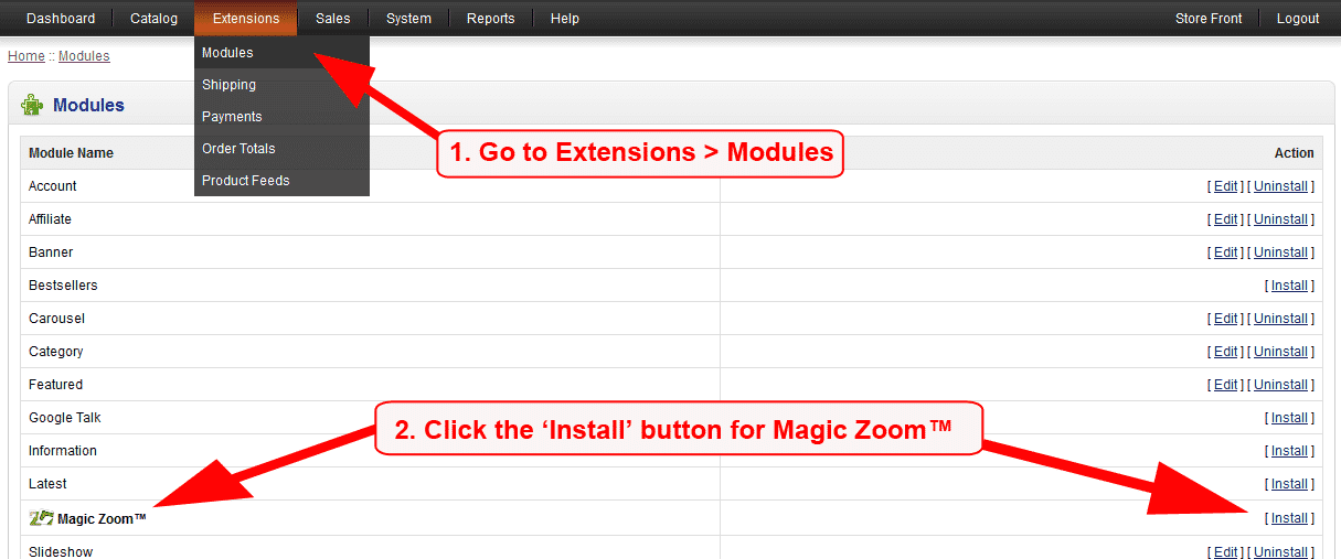 Beautiful OpenCart Image Zoom Extension - Magic Zoom