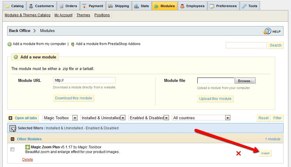 PrestaShop Zoom Plugin (hover/click) - Magic Zoom Plus