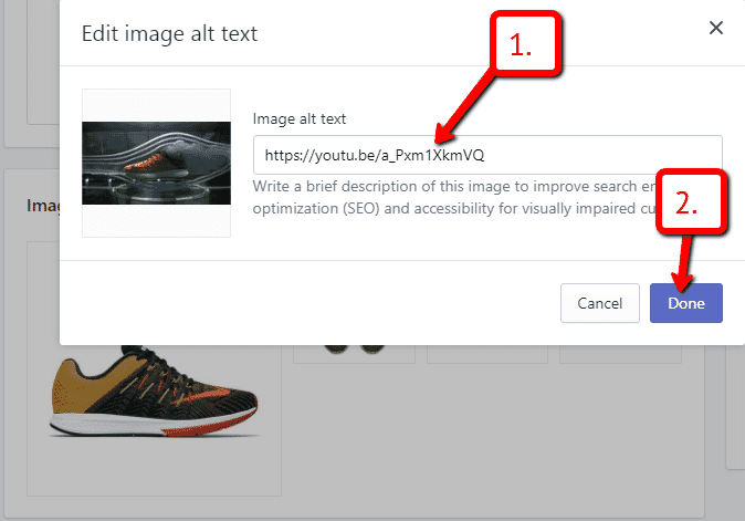 how to add vimeo video to shopify