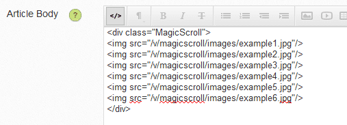 Volusion Carousel Image Scroller - Magic Scroll