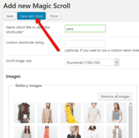 Save your new image carousel