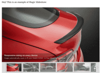 Magic Slideshow works instantly on your WordPress page or post