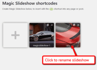Rename your slideshow